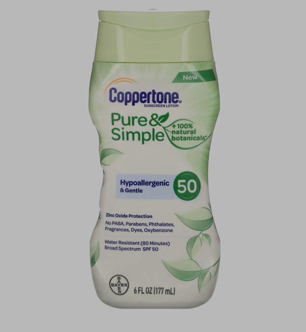Coppertone Pure and Simple SPF 50 Sunscreen Lotion