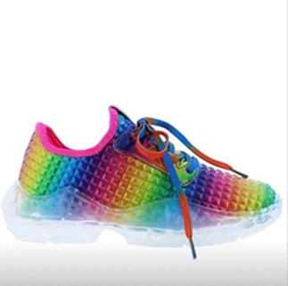 Bring colorful checks on your shoes