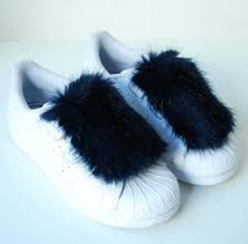 Furry winter look shoes